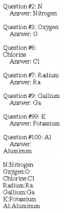Displays the questions/answers that were marked as incorrect