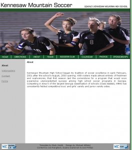 kmhssoccer.org 20090216 screenshot