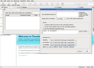 Thunderbird's Enigmail has advanced per-recipient configuration