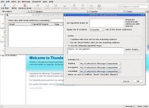 Thunderbird's Enigmail has advanced per-recipient configuration