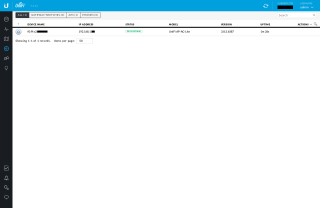 Screenshot of the Unifi Controller WUI showing the AP being provisioned