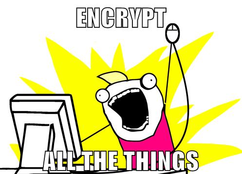 Encrypt All The Things Meme