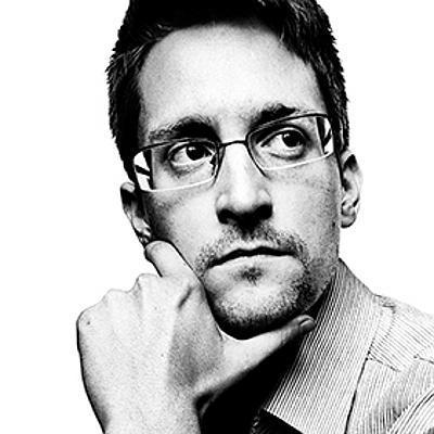 Edward Snowden portrat