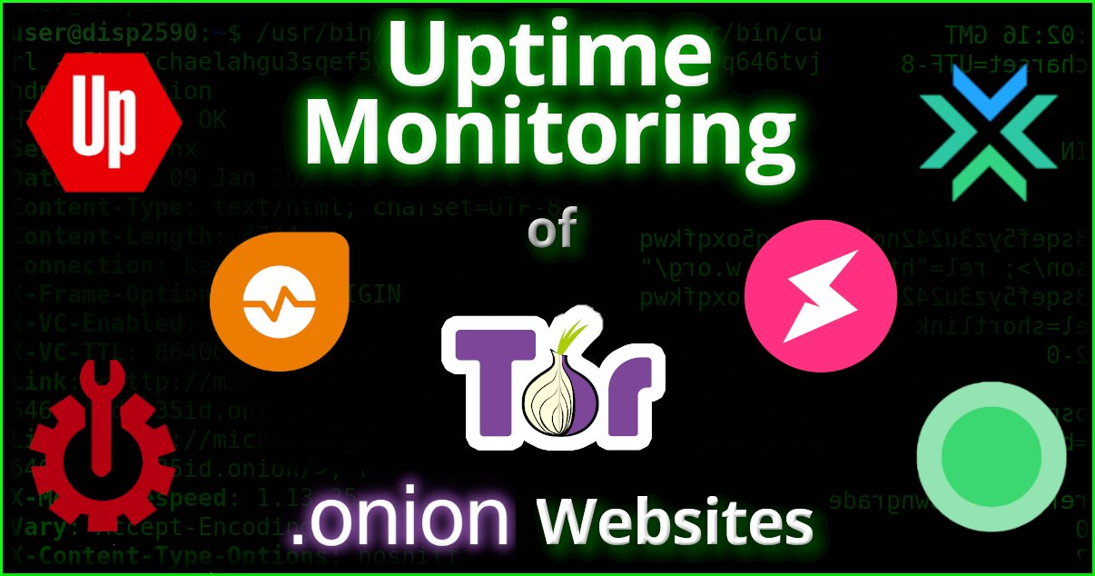 Uptime Monitoring of Tor .onion Websites