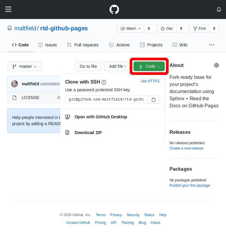 Screenshot of github repo URL